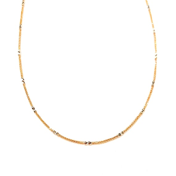 Rose & White GTJ Chain in 14k Gold