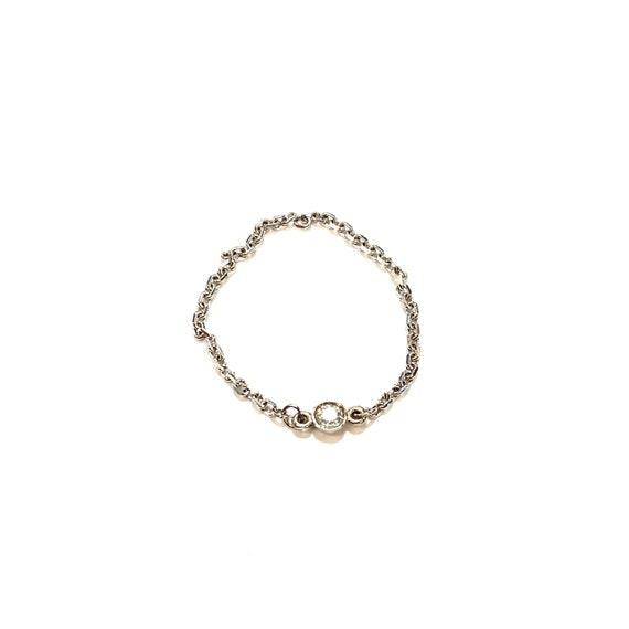 Diamond Chain Ring in 14k Gold