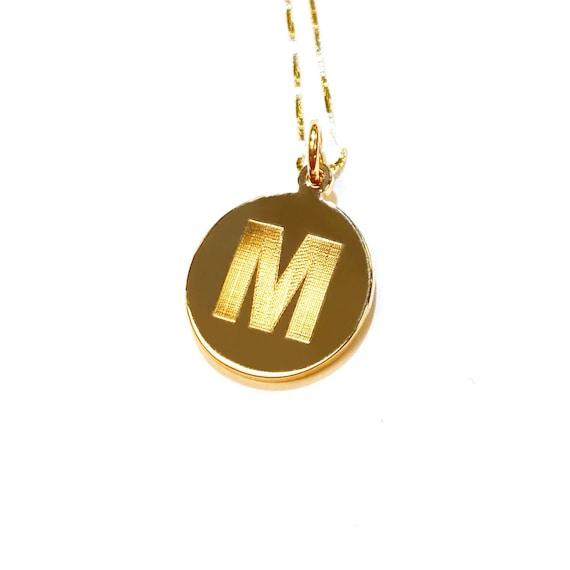 Initial Pendant in 14k Gold