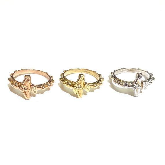 Rosary Ring in 14k Gold