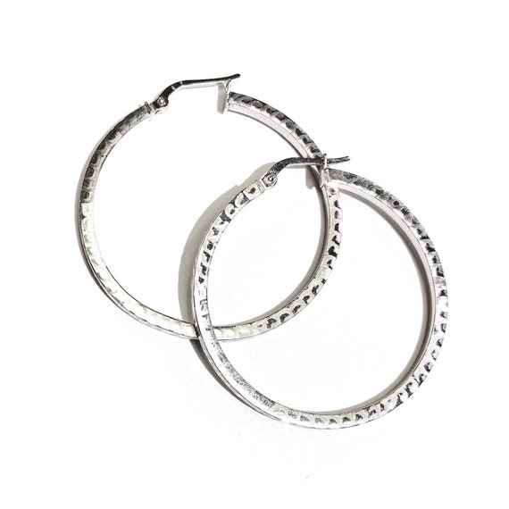 Limited Edition Pool Side Hoops in 14k White Gold