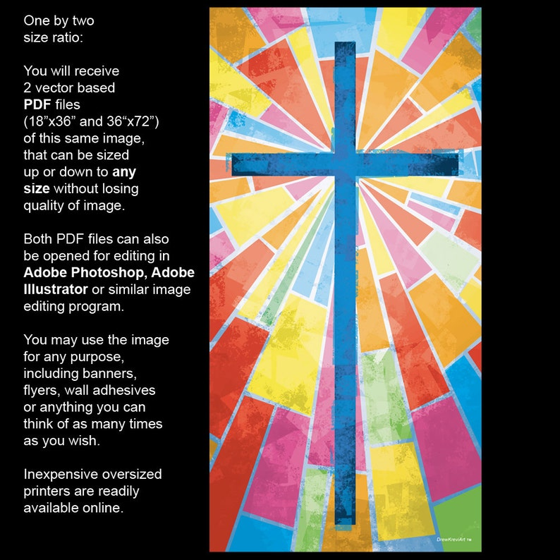 Church Banner, Stained Glass Cross, Cross with Stained Glass, Church Decor,  Church Decorations, Decorative Art for Church, Youth Group