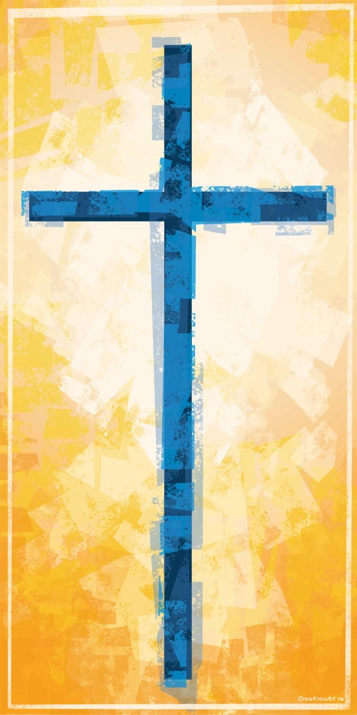 Cross Christian Banner Church Banner Church Art Golden   Etsy