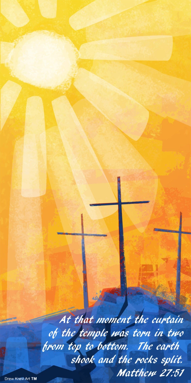 Three Crosses of Golgotha Easter Banner Easter Cross Sunset   Etsy