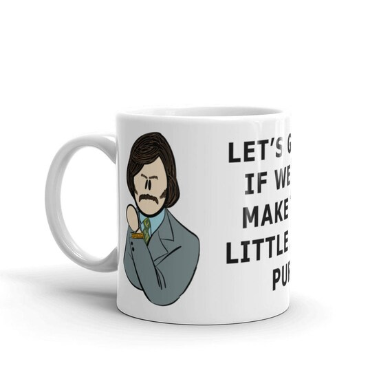 This Can Kitty We Coffee FantanaLet's If InspiredThe Little Legend Ron Go Anchorman Mug BurgundyBrian See Make Purr Of W2D9EIYH