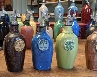 2 North Carolina Seagrove Pottery Candle Holders Taper