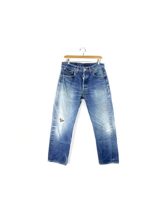 Altered 2000's Levi's 501 Faded High Rise Straight
