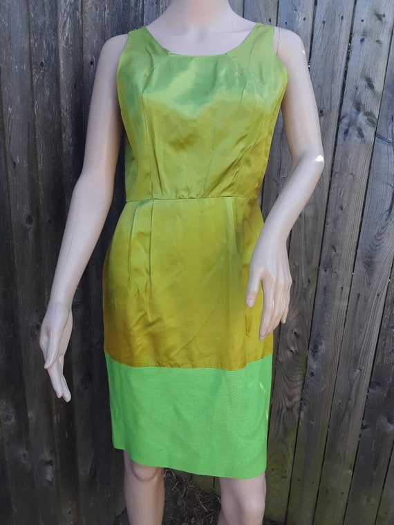 1960's layered two piece A-line dress - image 2