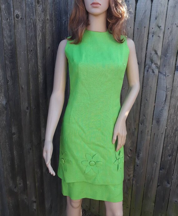 1960's layered two piece A-line dress - image 1