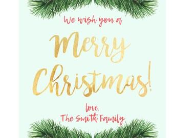 Christmas Greeting Card - CUSTOMIZABLE