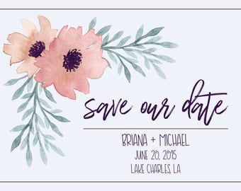 Save Our Date Card - CUSTOMIZABLE
