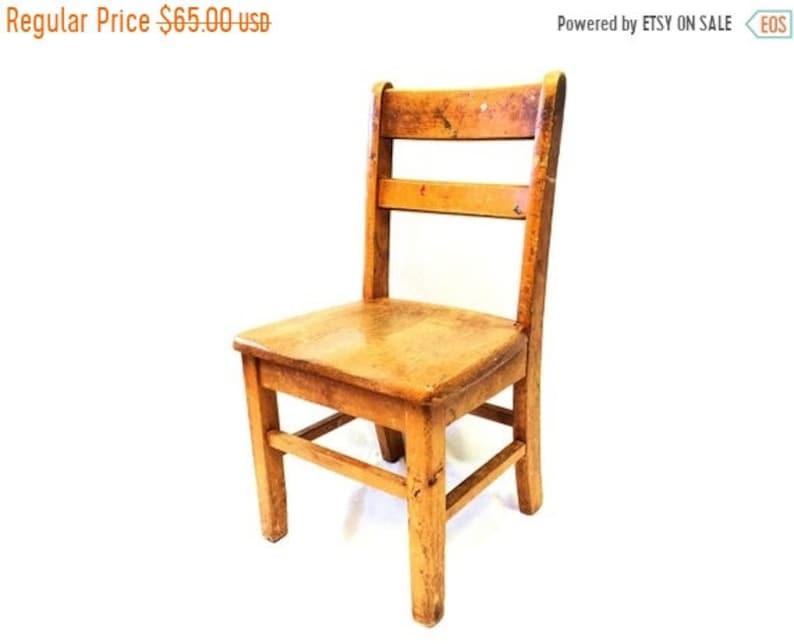 On Sale Sunday School Chair Kids Chair Childrens Chair School Chair Wooden Chair Vintage Antique Play Room Decor Furniture Farmhouse Country