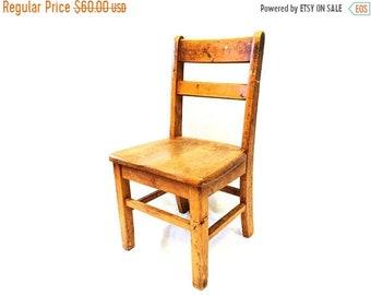 ON SALE Sunday School Chair.Kids Chair.Childrens Chair.School Chair.Wooden Chair.Vintage.Antique.Play Room Decor.Furniture.Farmhouse.Country
