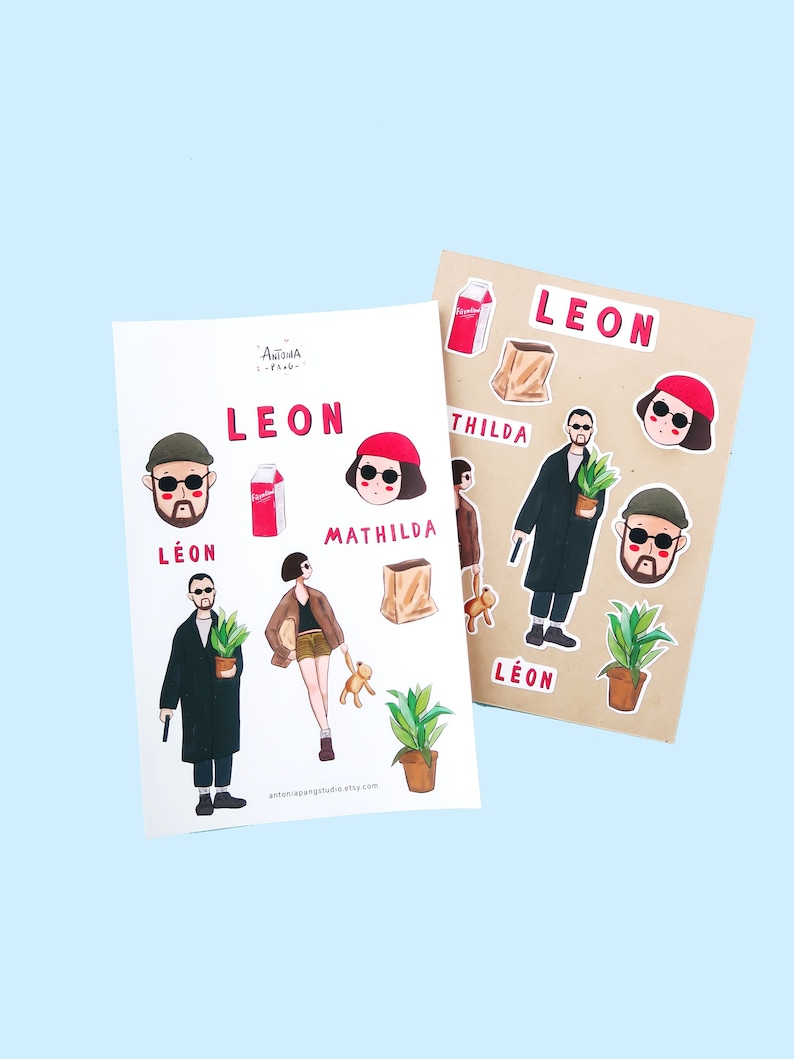 Leon sticker pack // Leon the professional // Film stickers // planner and  journal sticker