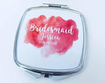 Bridesmaid Mirror | Personalised Bridesmaid Mirror | Bridesmaid Compact Mirror | Personalised Compact Mirror | Bridesmaid Gift | Bride Gift