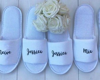 Personalised Slippers | Bridal slippers | Bridal Party Slippers | Hen Party Slippers | Wedding Slippers | Spa Slippers | Bridesmaid Gift