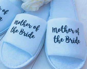 Bridesmaid Slippers | Personalised Slippers | Bridal slippers | Bridal Party Slippers | Wedding Slippers | Spa Slippers | Bridesmaid Gift