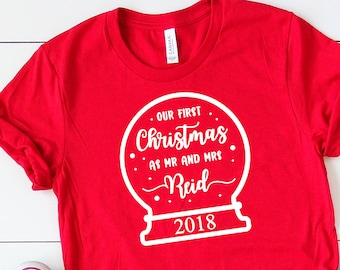 First Christmas As Mr and Mrs • Personalised Mrs Shirt •Christmas Jumper •Christmas Shirt •My First Christmas as Mrs •Personalised Christmas