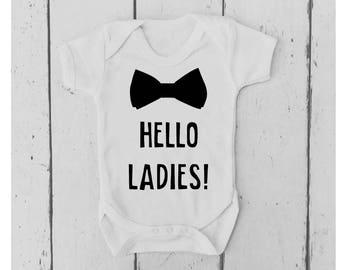 Hello Ladies Baby Vest | Hello Ladies Bodysuit | Hello Ladies Body Suit | Hello Ladies Baby Grow | Hello Ladies Onesie | Baby Shower Gift