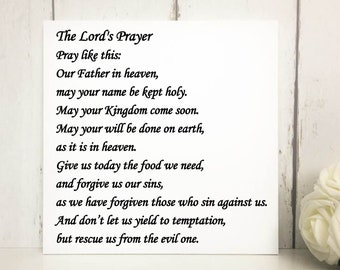 The Lord's Prayer | The Lord's Prayer Sign | Religious Quotes | Spirituality Signs | Our Father In Heaven | Scripture Quote | Bible Quotes