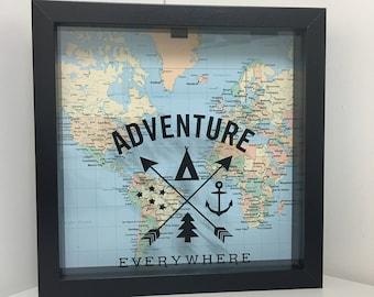Adventure Everywhere | Adventure Fund | Ticket Shadow Box | Memory Box | Shadow Box Ticket | Ticket Stub Box |Cinema Stub |Memory Shadow Box