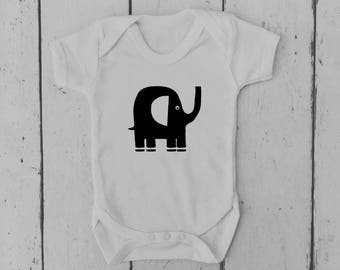 Elephant | Baby Vest | Baby Grow | Bodysuit | Body Suit | Baby Clothing | Onesie | Baby Boy | Baby Girl | Gift | Baby Shower | Mum to Be