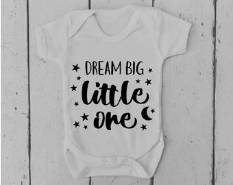 Dream Big Little One | Baby Vest | Baby Grow | Bodysuit | Body Suit | Baby Clothing | Onesie | Baby Boy | Baby Girl | Gift | Baby Shower