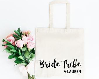 Bride Tribe Bag • Bridesmaid Tote Bag • Bridesmaid Gift Bag • Bride Tribe Gift Bag •Personalised Hen Party Gift Bag •Bridesmaid Gift •Hen Do