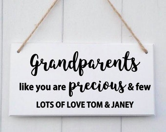 Personalised Grandparents Gift | Personalised Grandparents Sign | Grandparents Gift | Personalised Grandparents Plaque | Grandad Gift