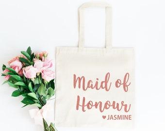 Maid of Honour Bag | Maid of Honour Tote Bag | Bridesmaid Gift Bag | Personalised Hen Party Gift Bag | Bridesmaid Gift | Maid of Honour Gift