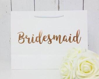 Bridesmaid Gift Bag | Bridesmaid Bag | Personalised Bridesmaid Bag | Wedding Gift Bag | Boutique Bag | Thank You  Bridesmaid |Will You Be My