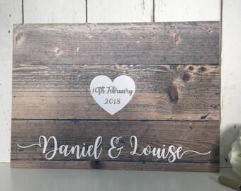 Wedding Guest Book • Alternative Wedding Guest Book • Guest Book Wedding • Rustic Wedding Guest Book • Wedding Guestbook •Pallet Sign Effect