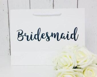 Bridesmaid Gift Bag • Bridesmaid Bag • Personalised Bridesmaid Bag • Wedding Gift Bag • Boutique Bag • Thank You  Bridesmaid •Will You Be My