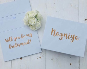 Large Bridesmaid Proposal Box • Will You Be My Bridesmaid • Personalised Bridesmaid Gift Box