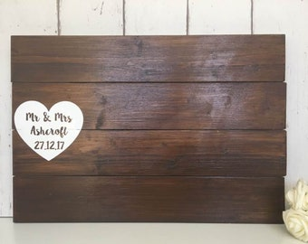 Wooden Guest Book • Wedding Guest Book • Alternative Guest Book • Pallet Sign • Rustic Wedding • Personalised Guestbook • Wooden Guestbook