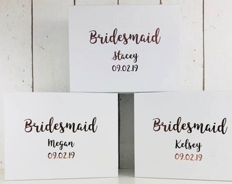 Personalised Bridesmaid Gift Box | Bridal Party Gift Boxes | Maid of Honour Mother of the Bride Flower Girl