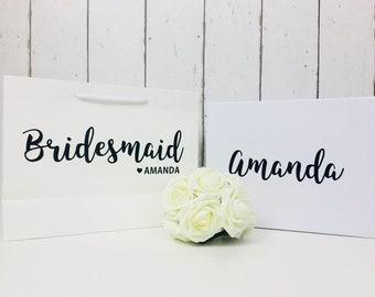 Bridesmaid Gift Bag and Box • Bridesmaid Gift Bag • Bridesmaid Box • Will You Be My Bridesmaid • Wedding Gift Bag • Thank You Gift• Gift Bag