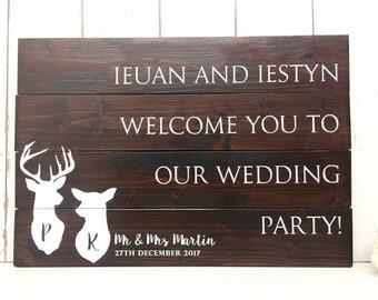 Welcome Wedding Sign • Wedding Welcome Sign • Woodland Wedding • Rustic Wedding • Rustic Wedding Sign • Welcome to our wedding • Rustic Wood