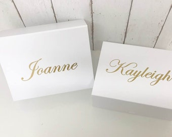 Maid of Honor Box Gift • Bridal Party Gift Box • Personalised Gift Box •Bridesmaid Gift • Mother of the Bride Thank You •Wedding Thank you S