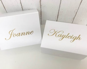 Bridal Party Gift Box • Personalised Gift Box •Bridesmaid Gift • Maid of Honor Box Gift • Mother of the Bride Thank You •Wedding Thank you L