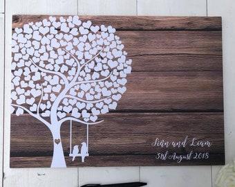 Tree Guest Book • Wedding Guestbook • Wedding Guest Book • Alternative Wedding Guest Book • Guest Book Wedding • Rustic Wedding Guest Book