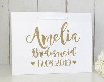 Personalised Bridesmaid Bag • Bridesmaid Gift Bag • Personalised Gift Bag • Bridesmaid Gift • Wedding Gift Bag • Thank You Bridesmaid • Gift