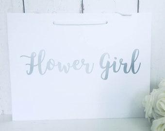 Flower Girl Gift Bag | Flower Girl Bag | Flower Girl Gift | Wedding Gift Bags | Thank You Flower Girl | Flower Girl Gifts | Bridesmaid Gift