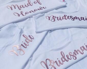 Hen Party Tops • Rose Gold Bridesmaid • Bridesmaid Tops • Hen Party Vests • Hen Do Tops • Bridesmaid Vests • Batchelorette Vest • Hen Do Tee