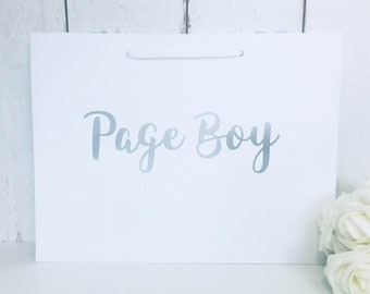 Page Boy Gift Bag • Page Boy Bag • Page Boy Gift • Wedding Gift Bags • Thank You Page Boy • Page Boy Gifts • Best Man Gift • Groomsman Gift