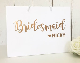 Personalised Bridesmaid Bag | Bridesmaid Gift Bag | Personalised Gift Bag | Bridesmaid Gift | Wedding Gift Bag | Thank You Bridesmaid | Gift