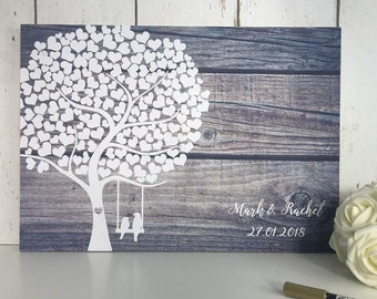 Wedding Guestbook | Wedding Guest Book | Alternative Wedding Guest Book | Guest Book Wedding | Rustic Wedding Guest Book | Tree Guest Book