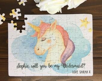 Will You Be My Flower Girl |Flower Girl Gift| Unicorn Gift| Unicorn Jigsaw| Flower Girl Proposal | Flower Girl Jigsaw |Thank you Flower Girl
