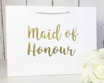 Maid of Honour Gift | Maid of Honour Gift Bag | Maid of Honour Bag | Wedding Gift Bags | Thank You Maid of Honour | Maid of Honour Gifts