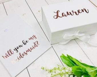 Will You Be My Bridesmaid Box • Bridesmaid Proposal Box •Personalised Bridesmaid Gift Box • Bridal Party Gift • Small Gift Box